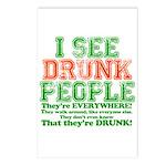 I See DRUNK People Postcards (Package of 8)