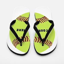 Customize Softball Name Flip Flops