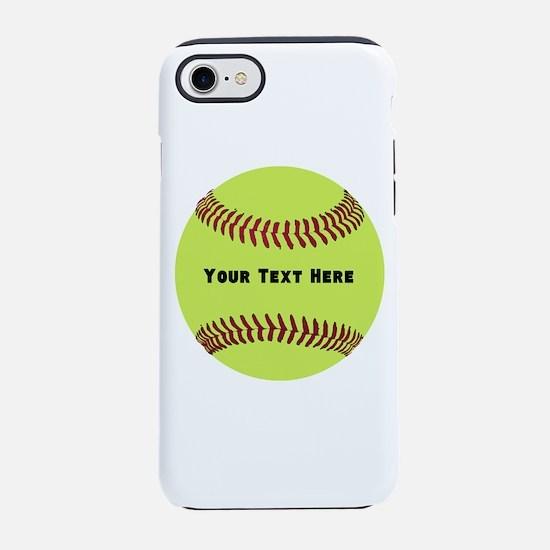 Customize Softball Name iPhone 7 Tough Case