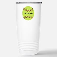 Customize Softbal Travel Mug