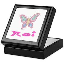 Pink Butterfly Rei Keepsake Box