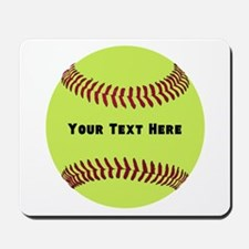 Customize Softball Name Mousepad
