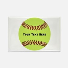 Customize Softball Name Rectangle Magnet