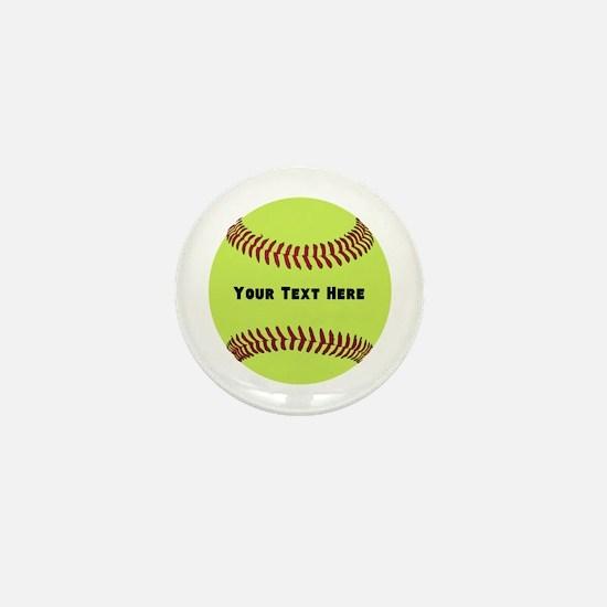 Customize Softball Name Mini Button