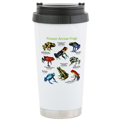 Poison Dart Frogs of the Amazon Stainless Steel Tr