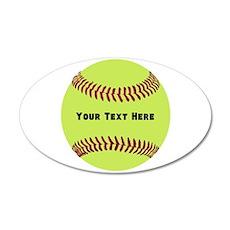Customize Softball Name Wall Sticker