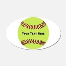 Customize Softball Name Wall Decal