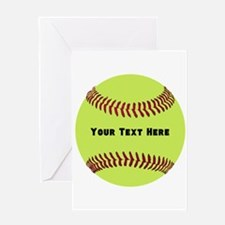 Customize Softball Name Greeting Card