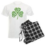 Shamrock Skulls St Pattys Day Men's Light Pajamas