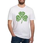 Shamrock Skulls St Pattys Day Fitted T-Shirt