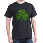 Shamrock Skulls St Pattys Day Dark T-Shirt