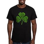 Shamrock Skulls St Pattys Day Men's Fitted T-Shirt