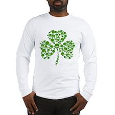 Shamrock Skulls St Pattys Day Long Sleeve T-Shirt