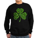 Shamrock Skulls St Pattys Day Sweatshirt (dark)