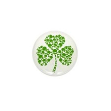 Shamrock Skulls St Pattys Day Mini Button