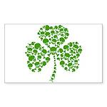 Shamrock Skulls St Pattys Day Sticker (Rectangle)