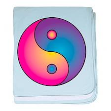 Yin/Yang Taoist Symbol of Balance baby blanket