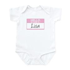 Hello, My Name is Lisa - Infant Bodysuit