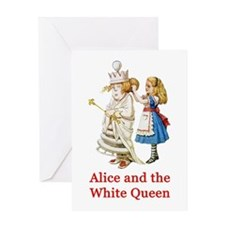 Alice and the White Queen Greeting Card