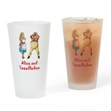 Alice and Tweedledum Drinking Glass
