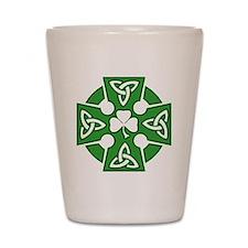 Celtic cross Shot Glass