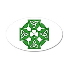 Celtic cross 22x14 Oval Wall Peel