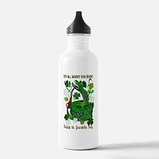 Shamrocks N Snakes Water Bottle