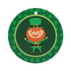 Leprechaun Irish St Paddy's Day Ornament (Round)