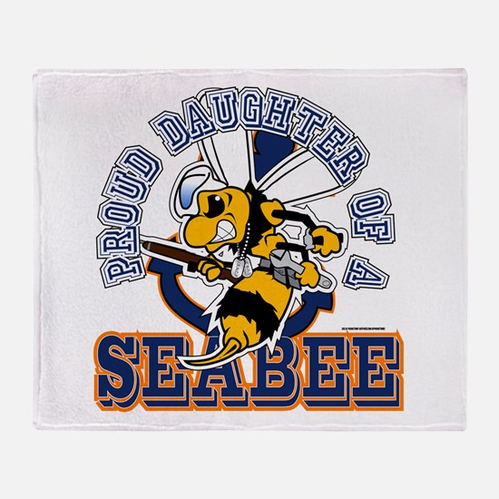 Navy Seabee 2 Throw Blanket