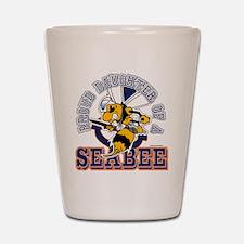 Navy Seabee 2 Shot Glass