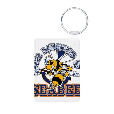 Navy Seabee 2 Aluminum Photo Keychain