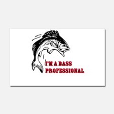 I'm A Bass Professional Car Magnet 20 x 12