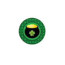 Leprechaun Gold St Patrick's Mini Button