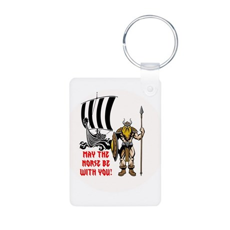 May The Norse Be With You Aluminum Photo Keychain