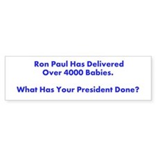 Ron Paul 2012 Baby's Hero Bumper Sticker