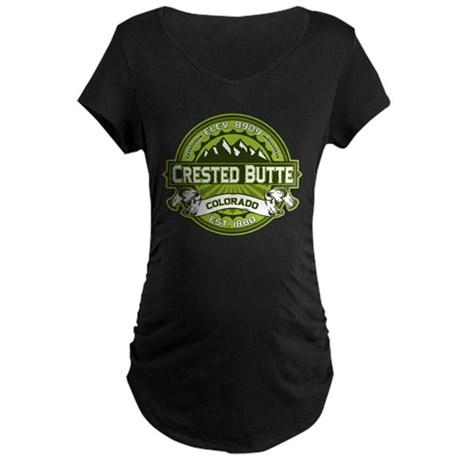 Crested Butte Green Maternity Dark T-Shirt