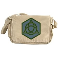 Beaded Triquetra Messenger Bag