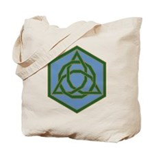 Beaded Triquetra Tote Bag