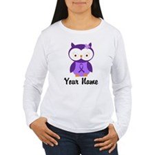 Personalized Purple Ribbon Owl T-Shirt