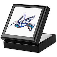 Hummingbird-Slate and Blue Keepsake Box