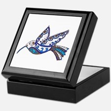 Hummingbird-Slate and Blue Keepsake Box
