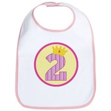 2nd Birthday Princess Crown Bib