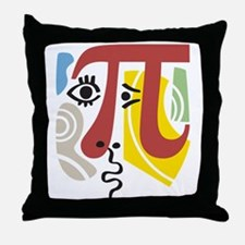 Pi Symbol Pi-casso Throw Pillow