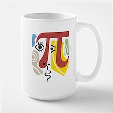 Pi Symbol Pi-casso Large Mug