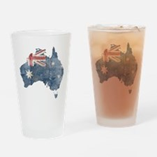 Vintage Australia Flag / Map Drinking Glass
