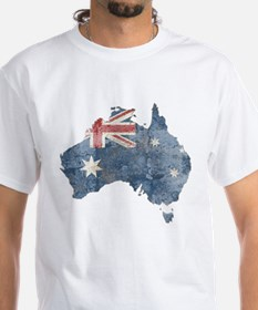 Vintage Australia Flag / Map Shirt