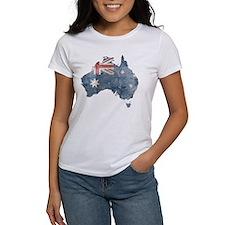 Vintage Australia Flag / Map Tee