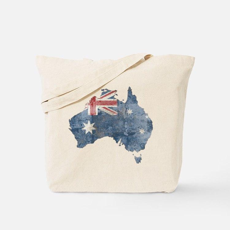 Vintage Australia Flag / Map Tote Bag