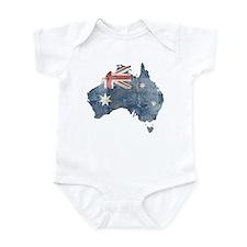 Vintage Australia Flag / Map Infant Bodysuit