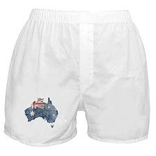 Vintage Australia Flag / Map Boxer Shorts
